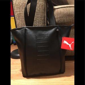 PUMA Dash Athletic Work Out 16'' Tote Bag Black
